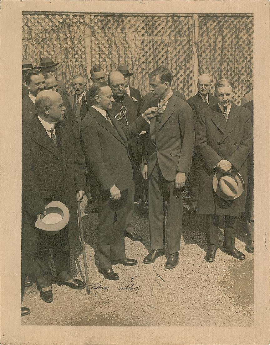 Charles Lindbergh and Calvin Coolidge