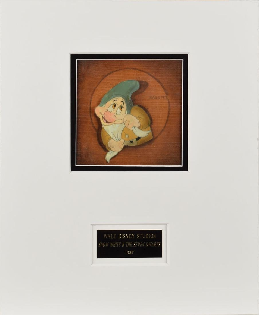 Bashful production cel from Snow White and the Seven Dwarfs