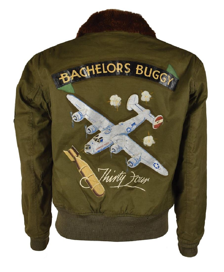 WWII USAAF 8th Air Force B-10 Flight Jacket with Painted Decorations