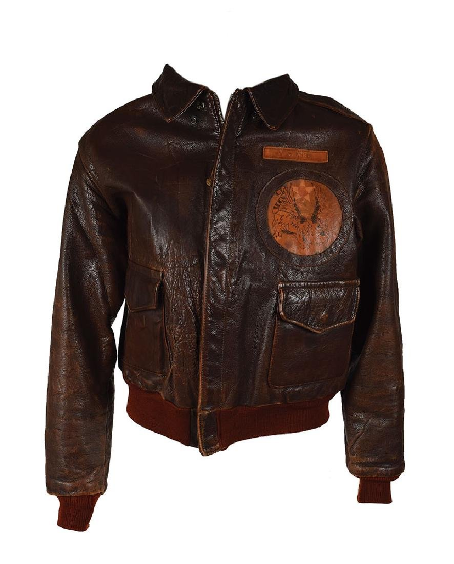 WWII USAAF 14th Air Force A-2 Flight Jacket with Unit Patch and Painted Decorations