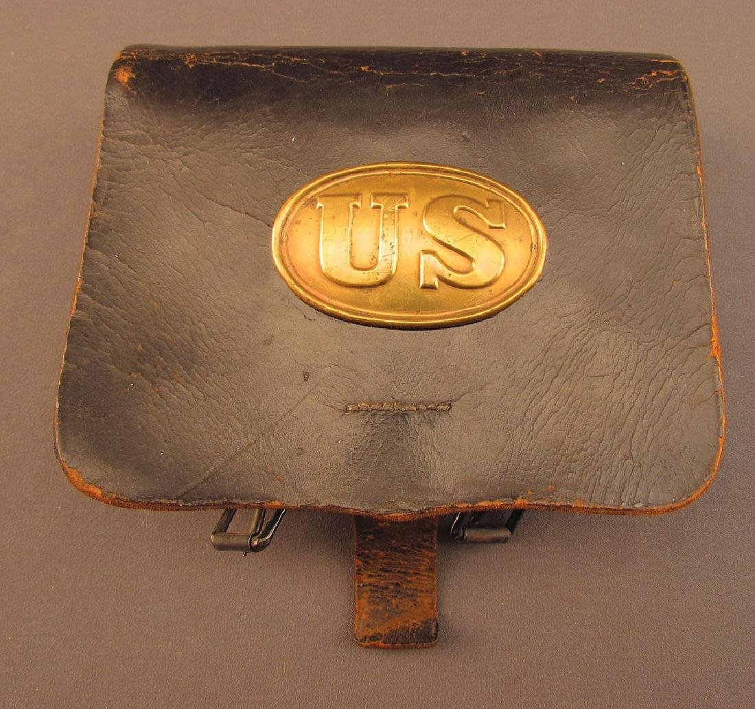 Civil War 1861 Cartridge Box by Decrow of Bangor, Maine