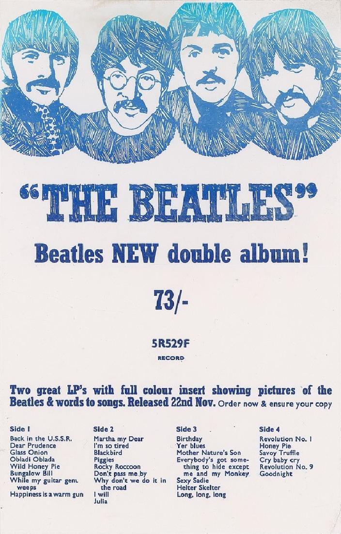 Beatles EMI/Apple 'White Album' Flyer