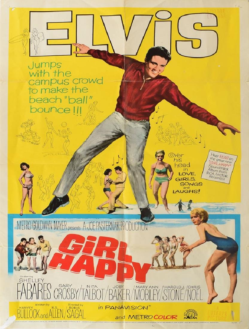 Elvis Presley Girl Happy Poster