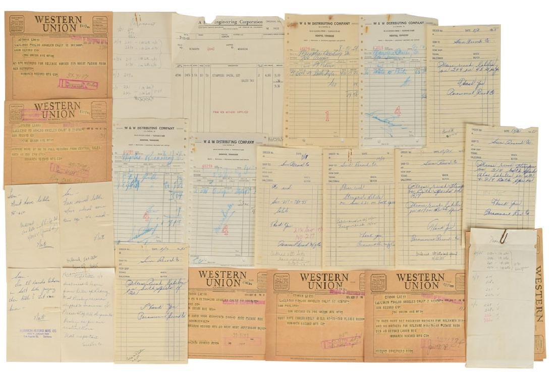 Elvis Presley Group of Financial Documents