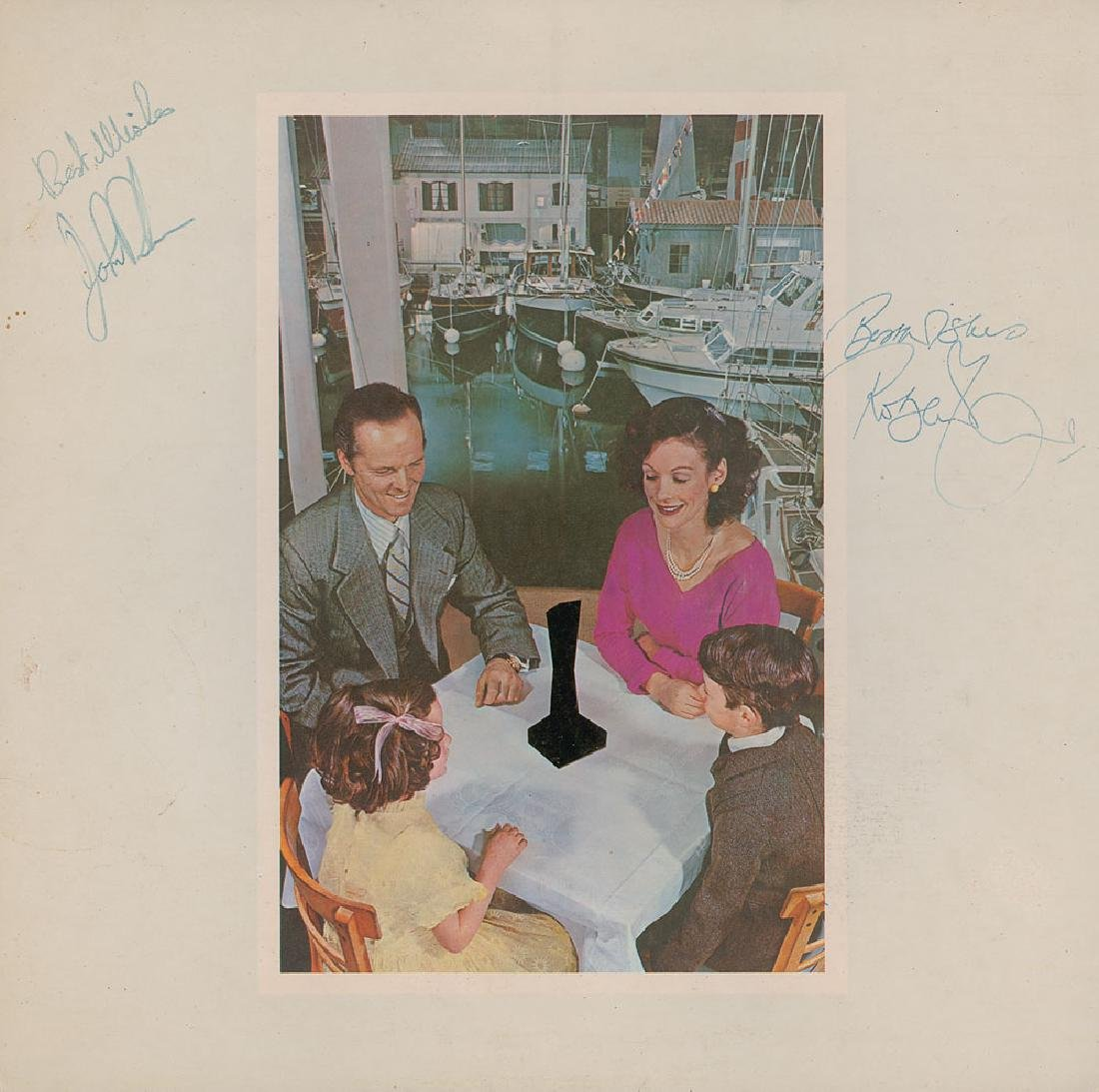 John Bonham and Robert Plant Signed Album