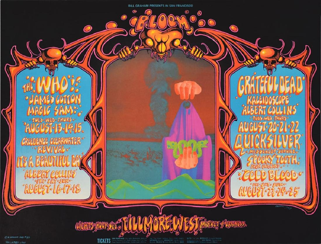 Grateful Dead and The Who Fillmore Concert Poster