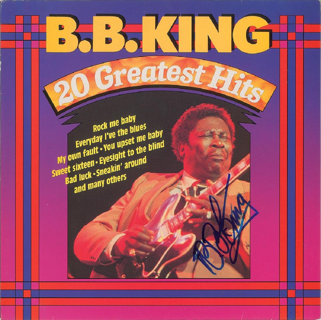 B. B. King Signed Album