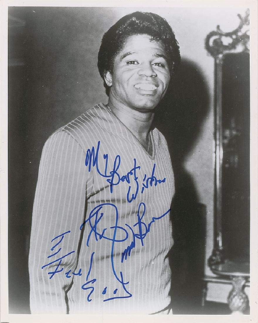 James Brown Signed Photograph