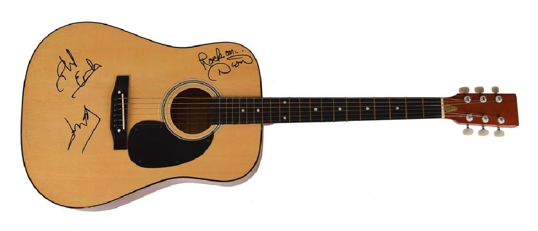 The Everly Brothers and Dion Signed Guitar