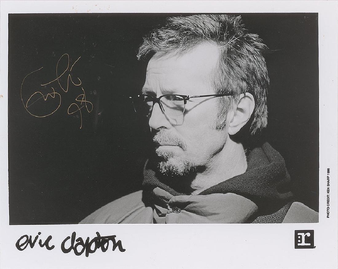 Eric Clapton Signed Photograph