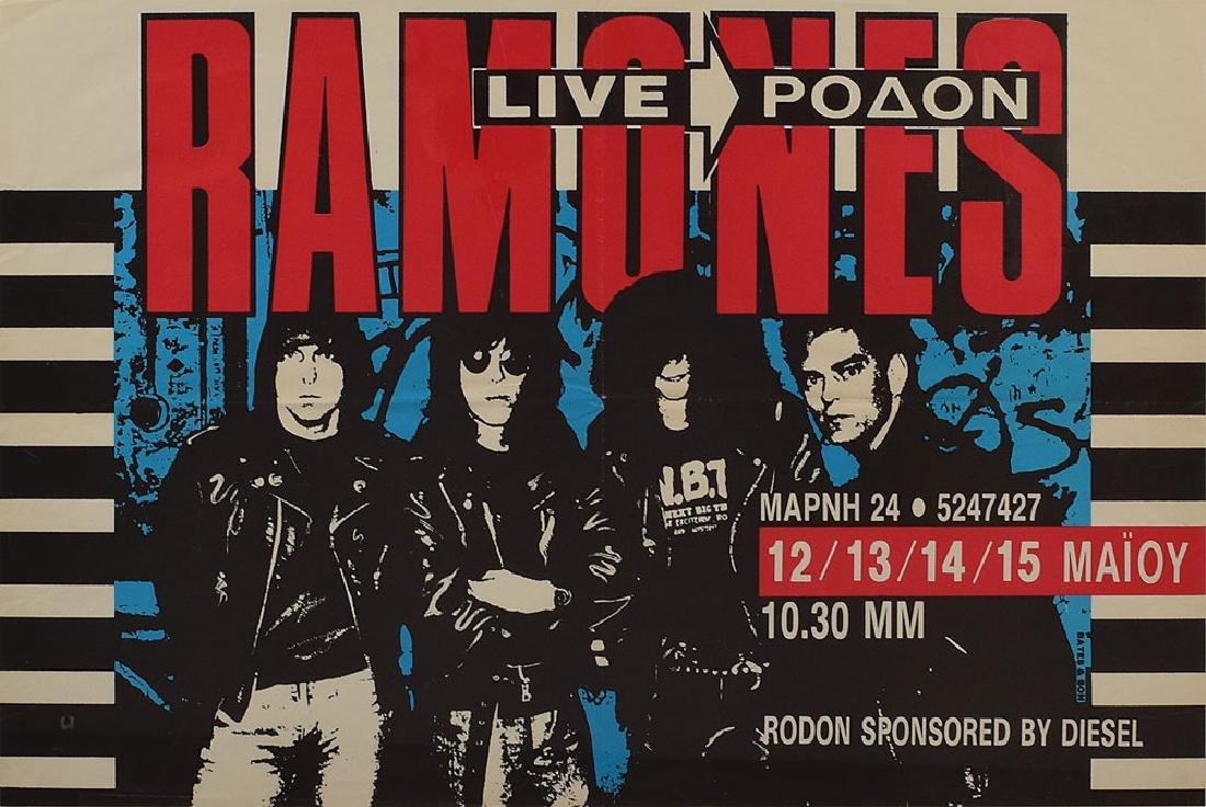 Ramones Greece 1989 Concert Poster