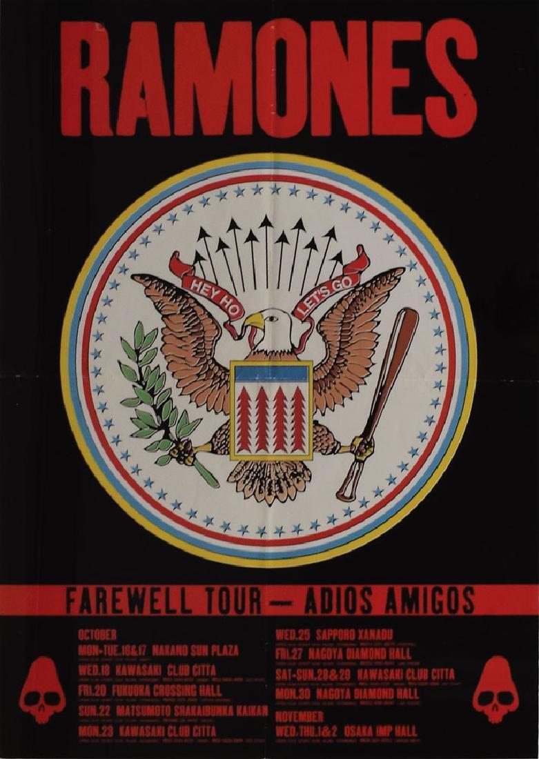 Ramones Japan 1995 Concert Poster