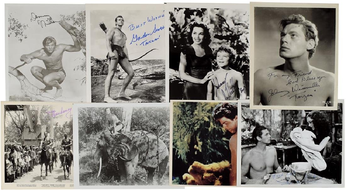 Tarzan Group of (8) Signed Photographs