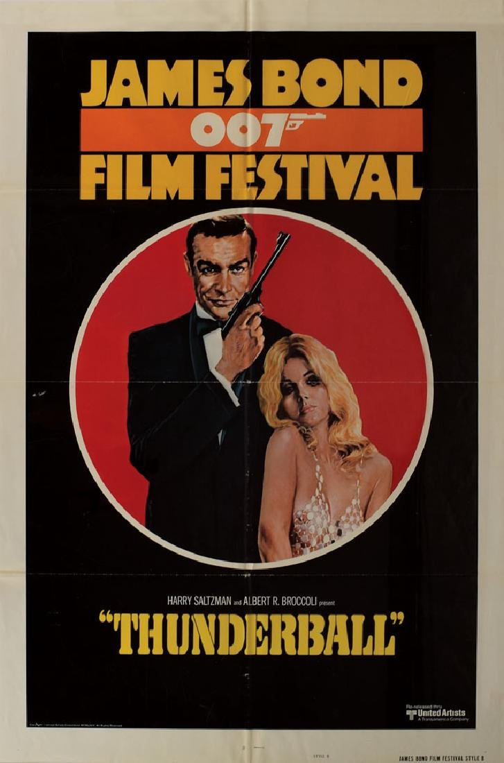 James Bond Poster for The 1975 James Bond Film Festival
