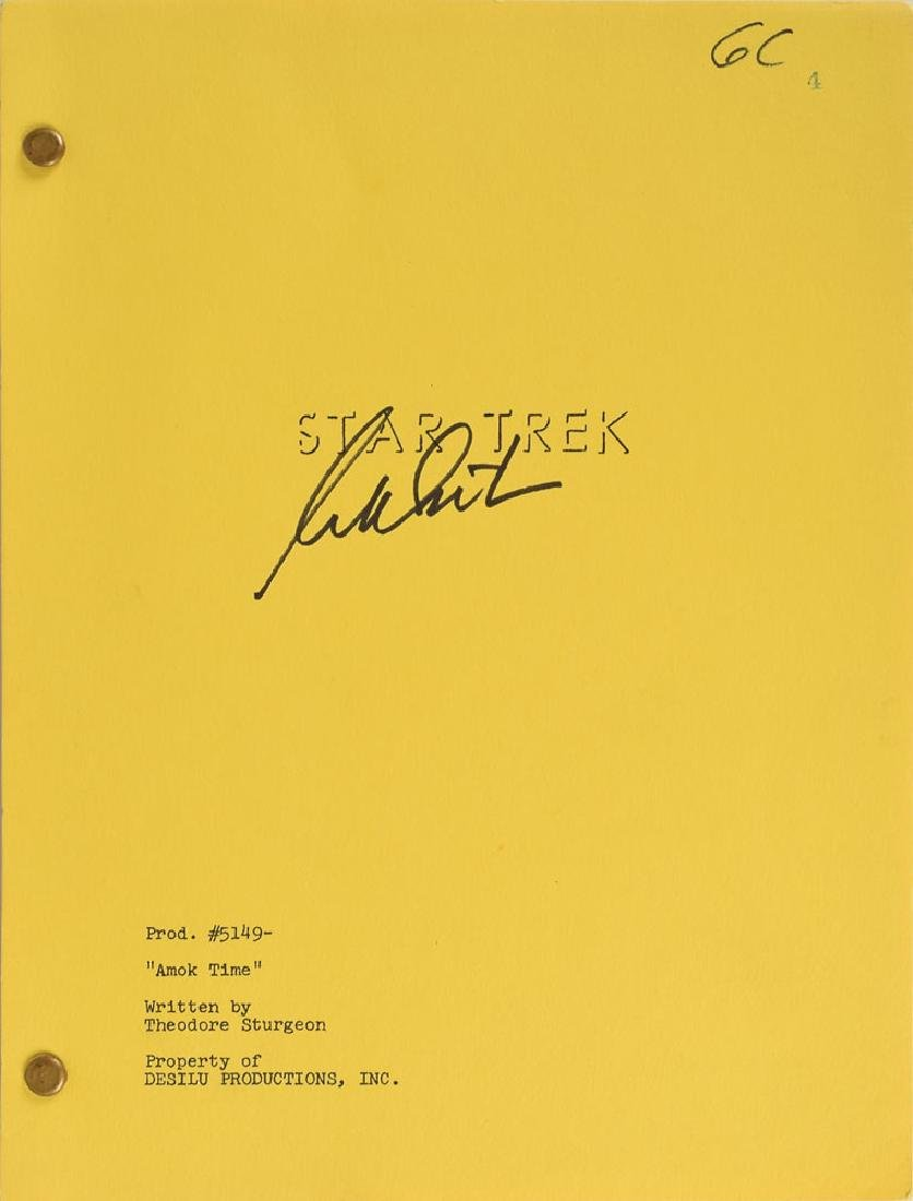 William Shatner Signed Original Star Trek Script