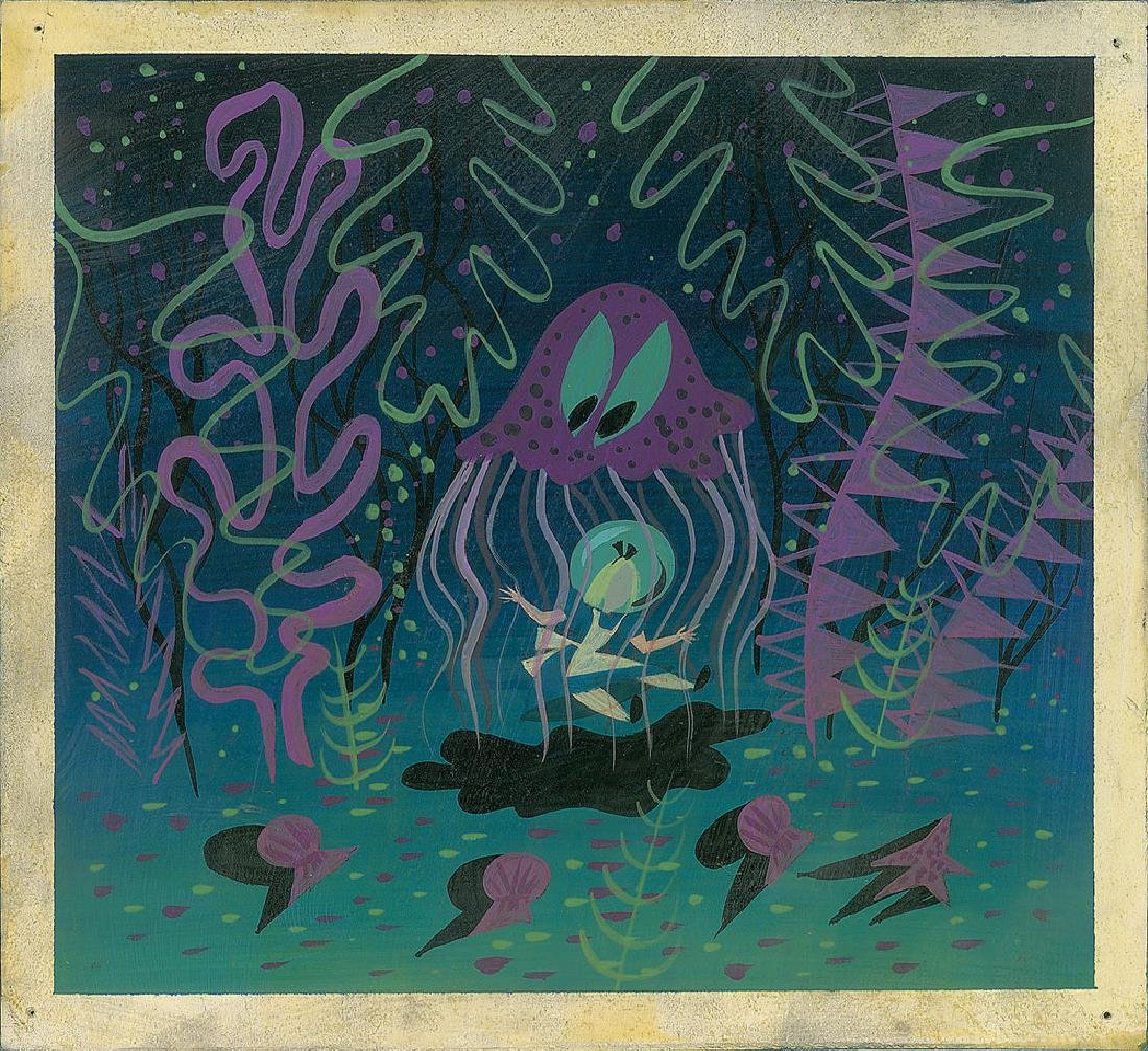 Mary Blair concept painting from Alice in Wonderland