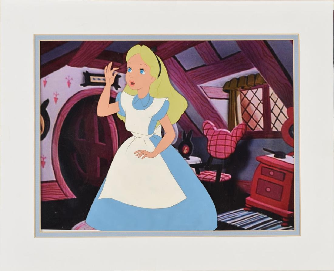 Alice production cel from Alice in Wonderland
