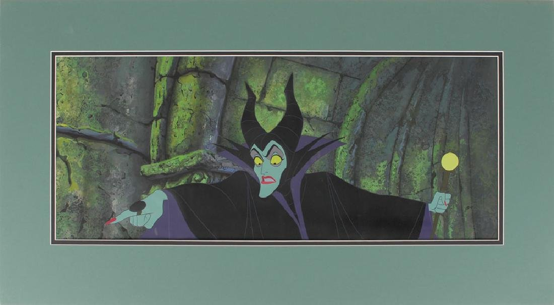 Maleficent production cel and production pan background from Sleeping Beauty