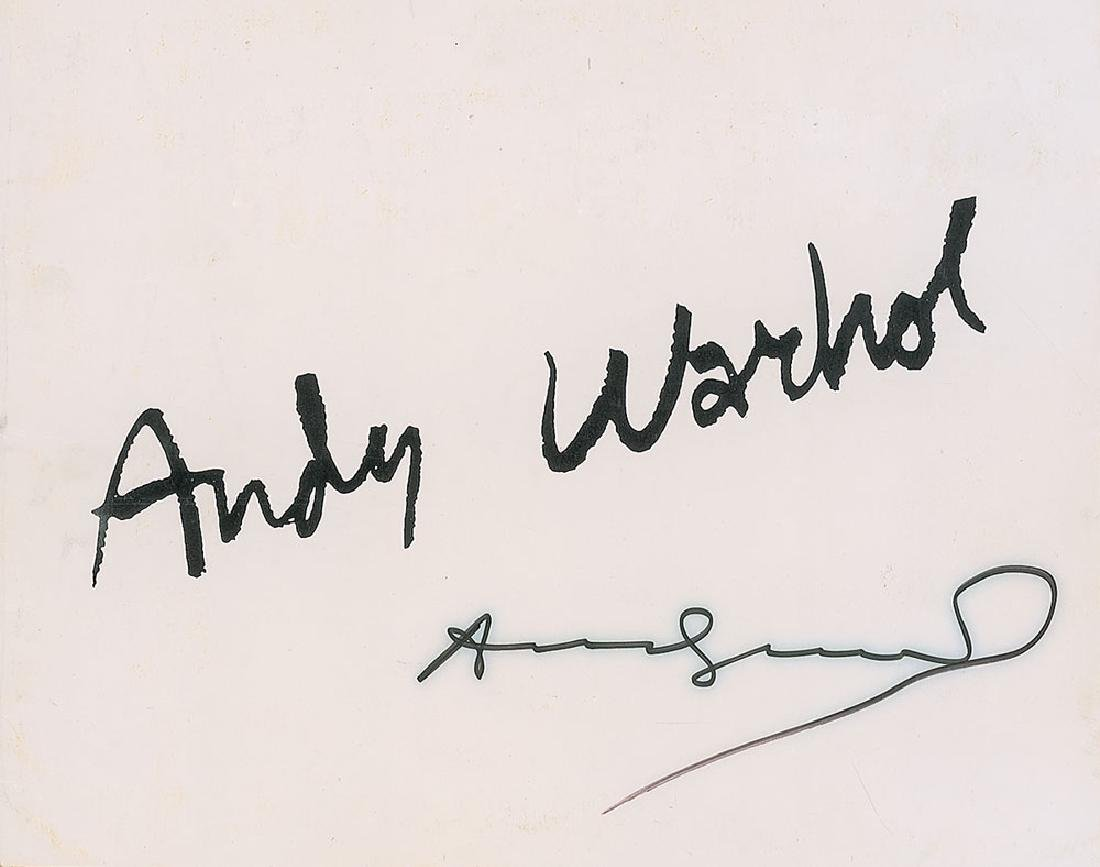 Andy Warhol Signed Program Cover