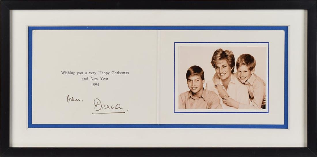 Princess Diana Signed Card
