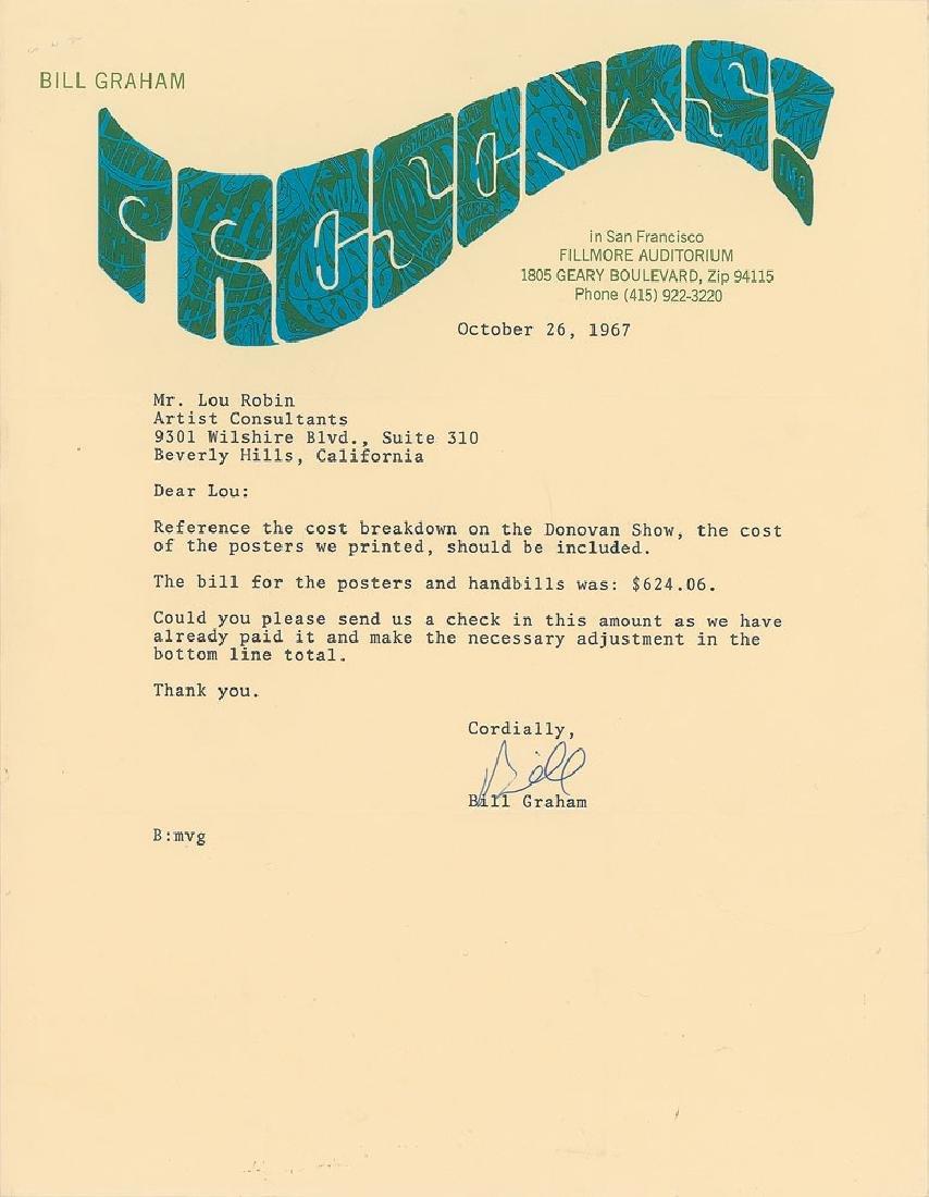 Bill Graham Typed Letter Signed