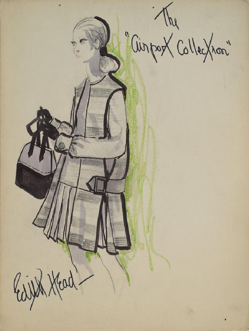 Edith Head Signed Design