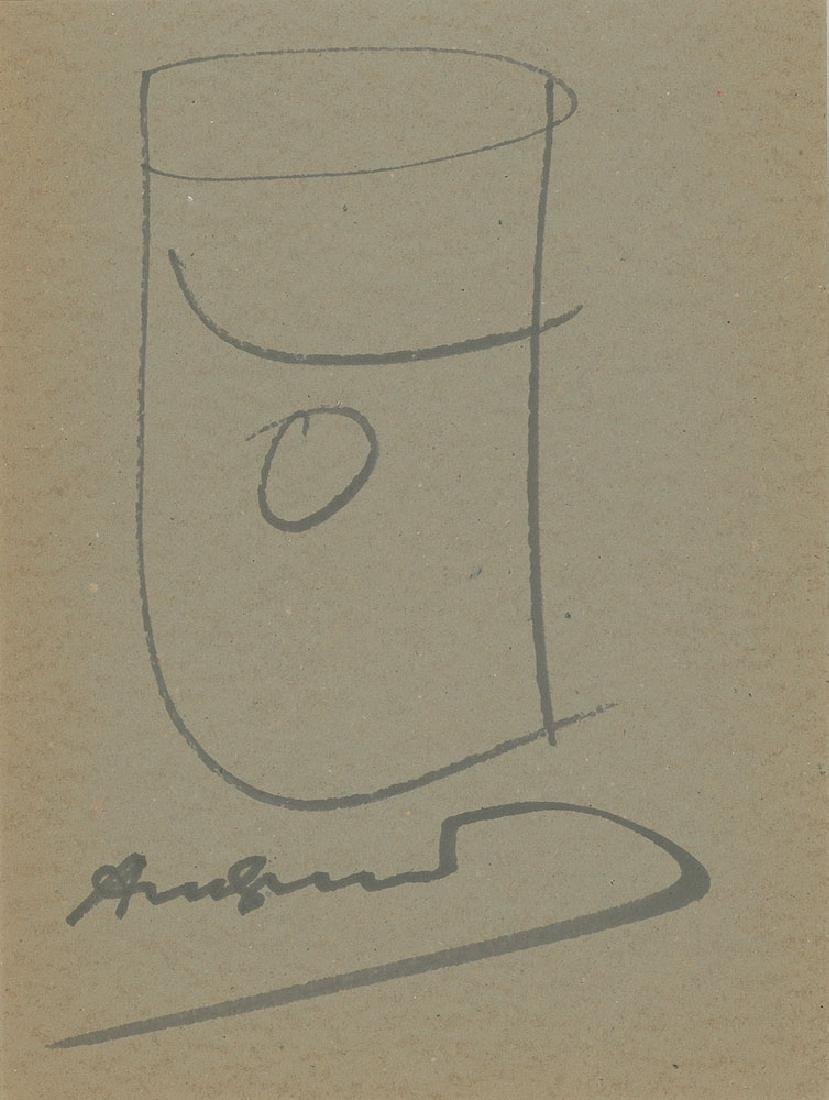 Andy Warhol Campbell Soup Can Sketch
