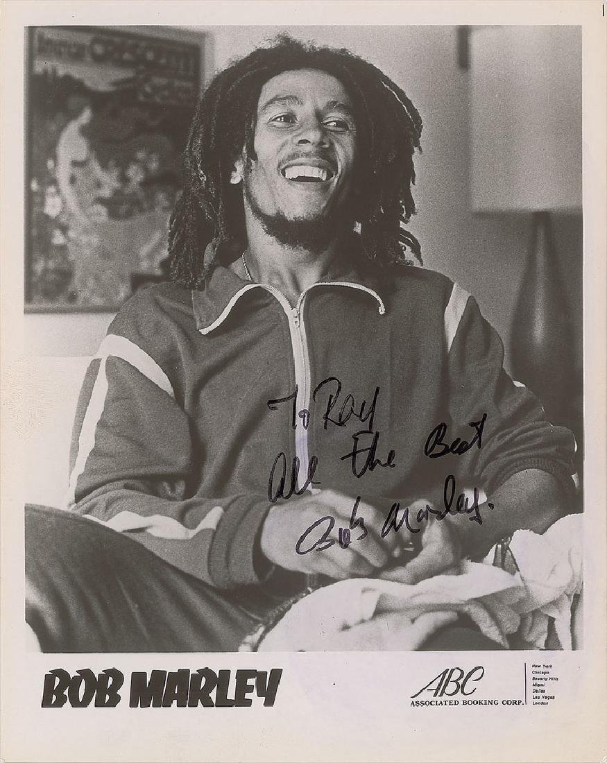 Bob Marley Signed Photograph