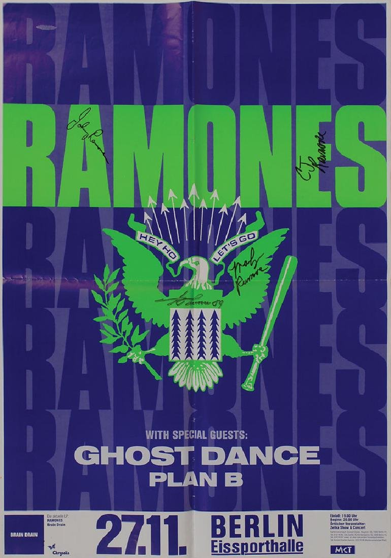 The Ramones Signed Poster