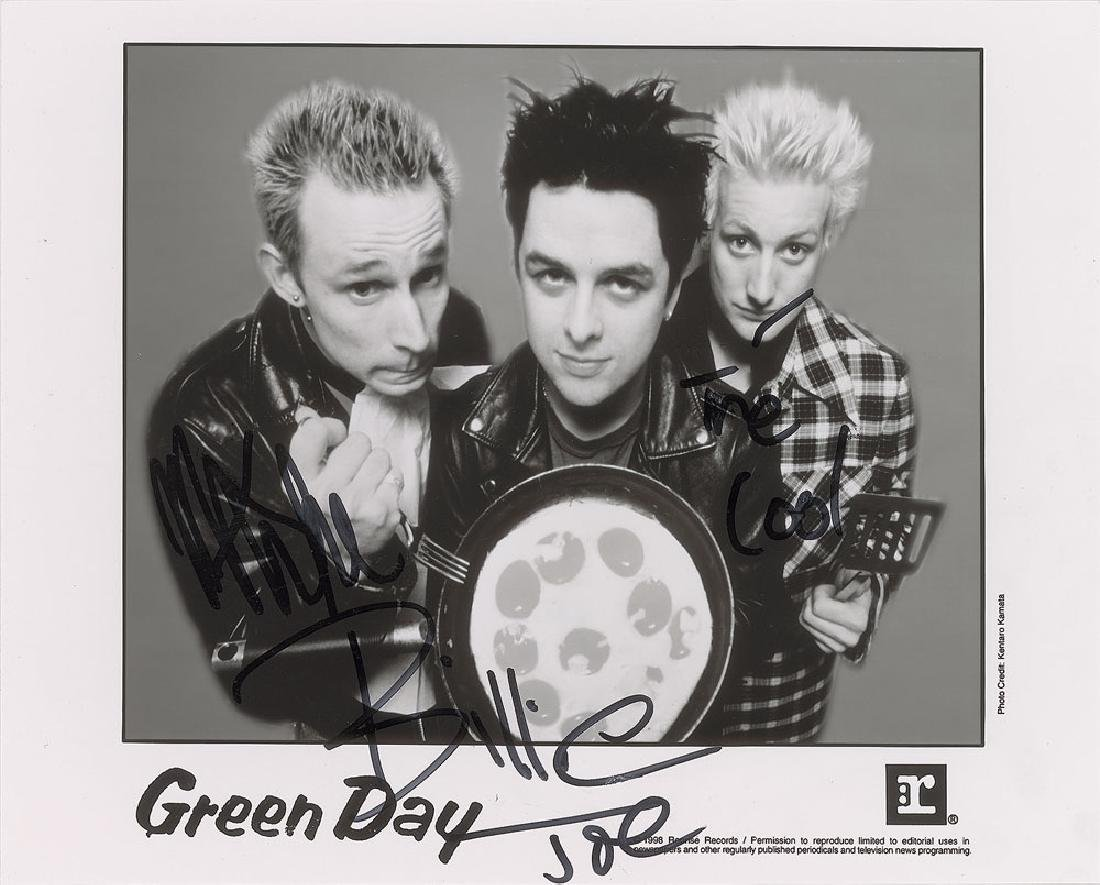 Green Day Signed Photograph