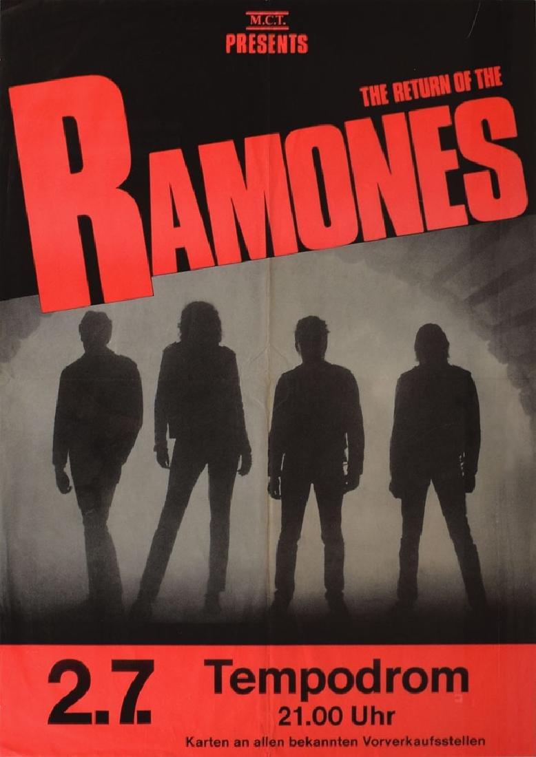 Ramones Tempodrum Concert Poster