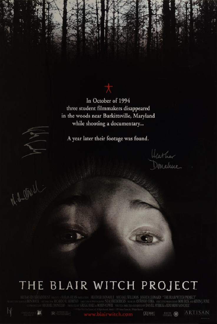 The Blair Witch Project Signed Poster