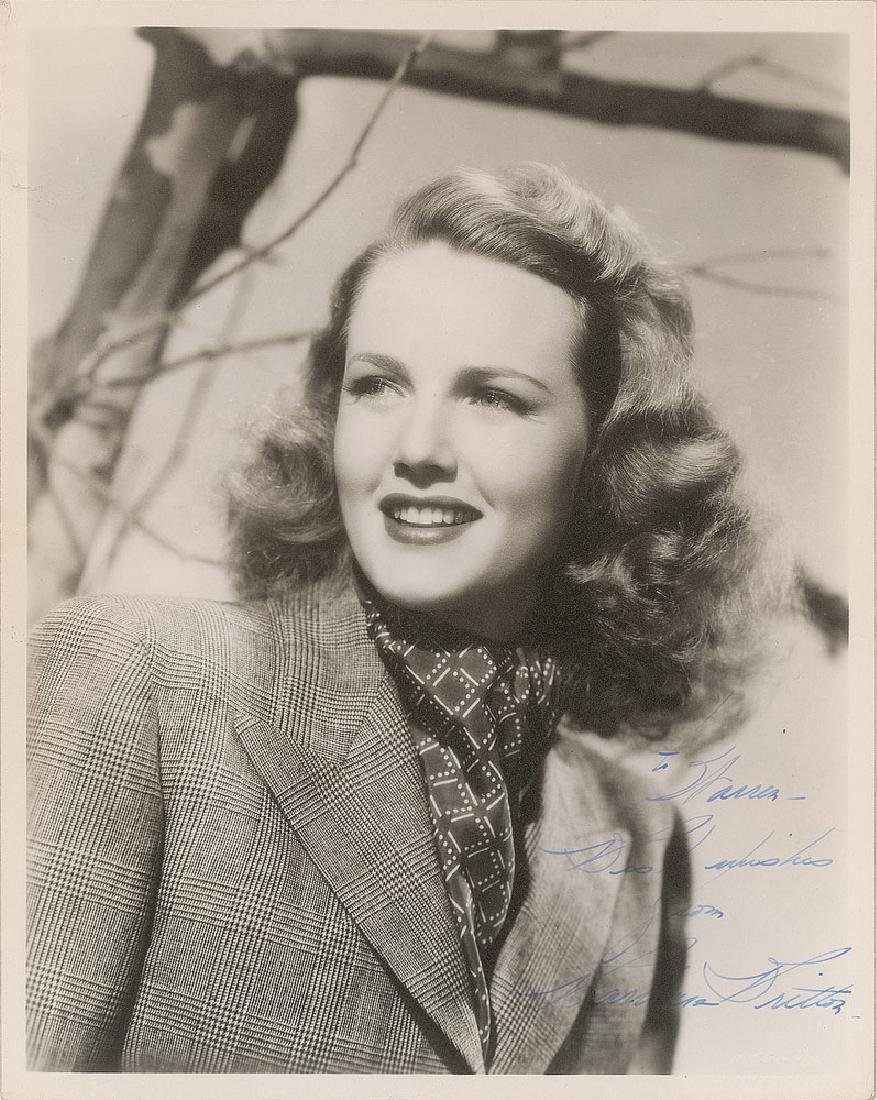 Barbara Britton Signed Photograph