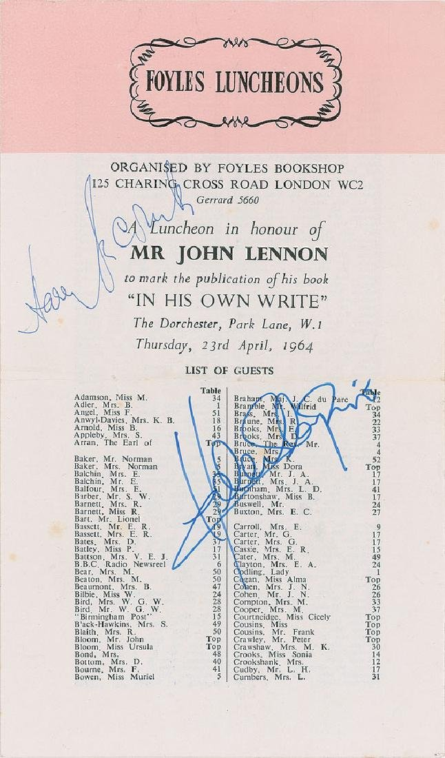 John Lennon 1964 'In His Own Write' Program