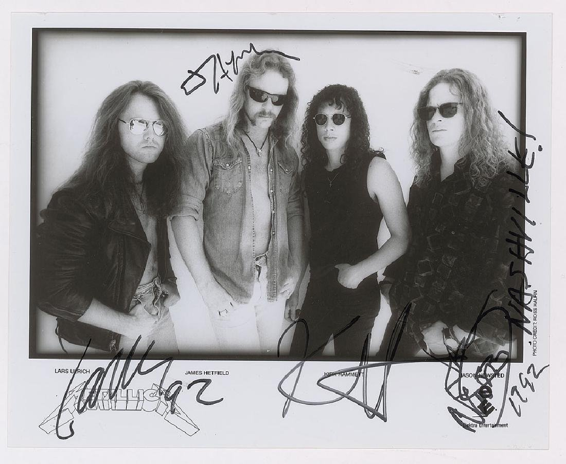 Metallica Signed Photograph