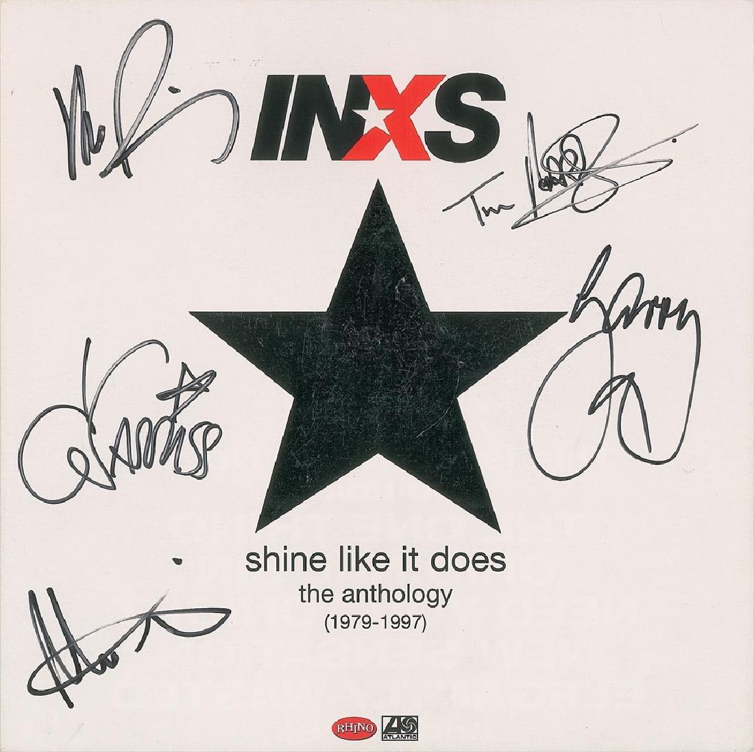 INXS Signed Album Flat
