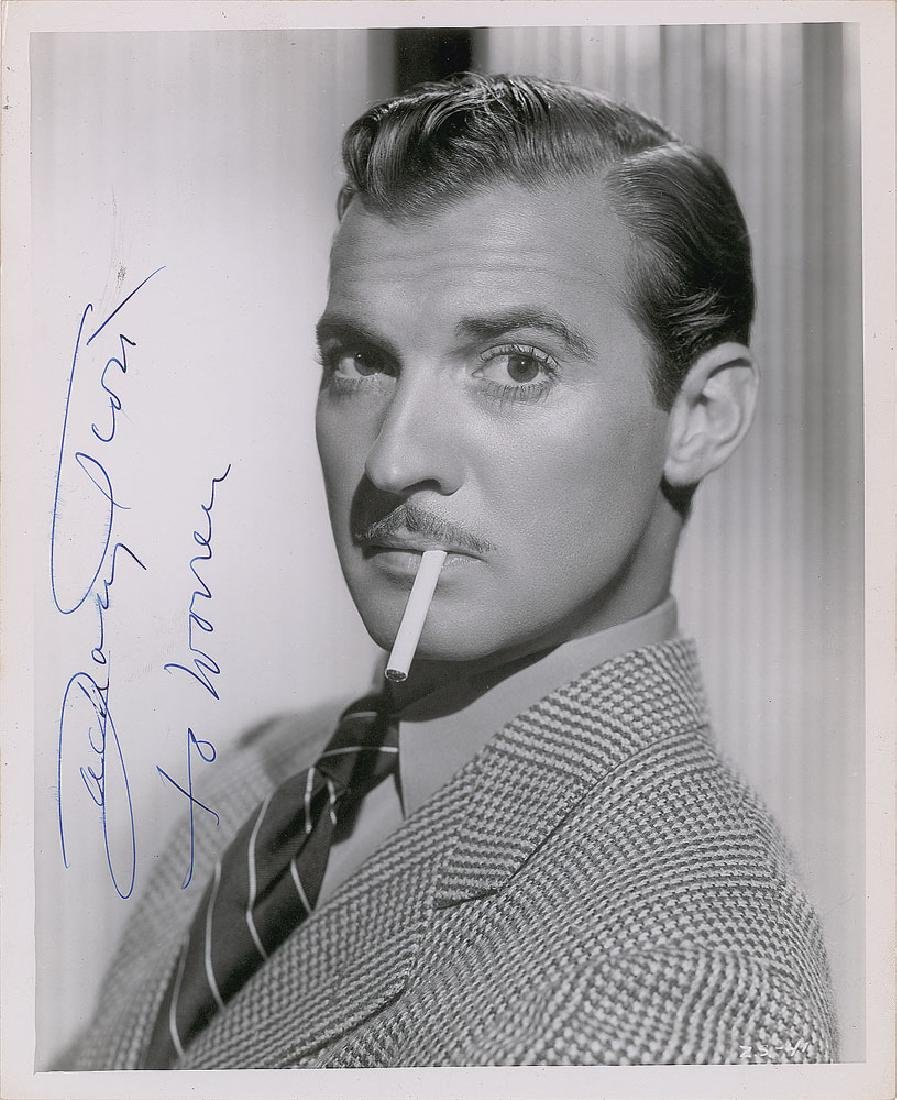 Zachary Scott Signed Photograph