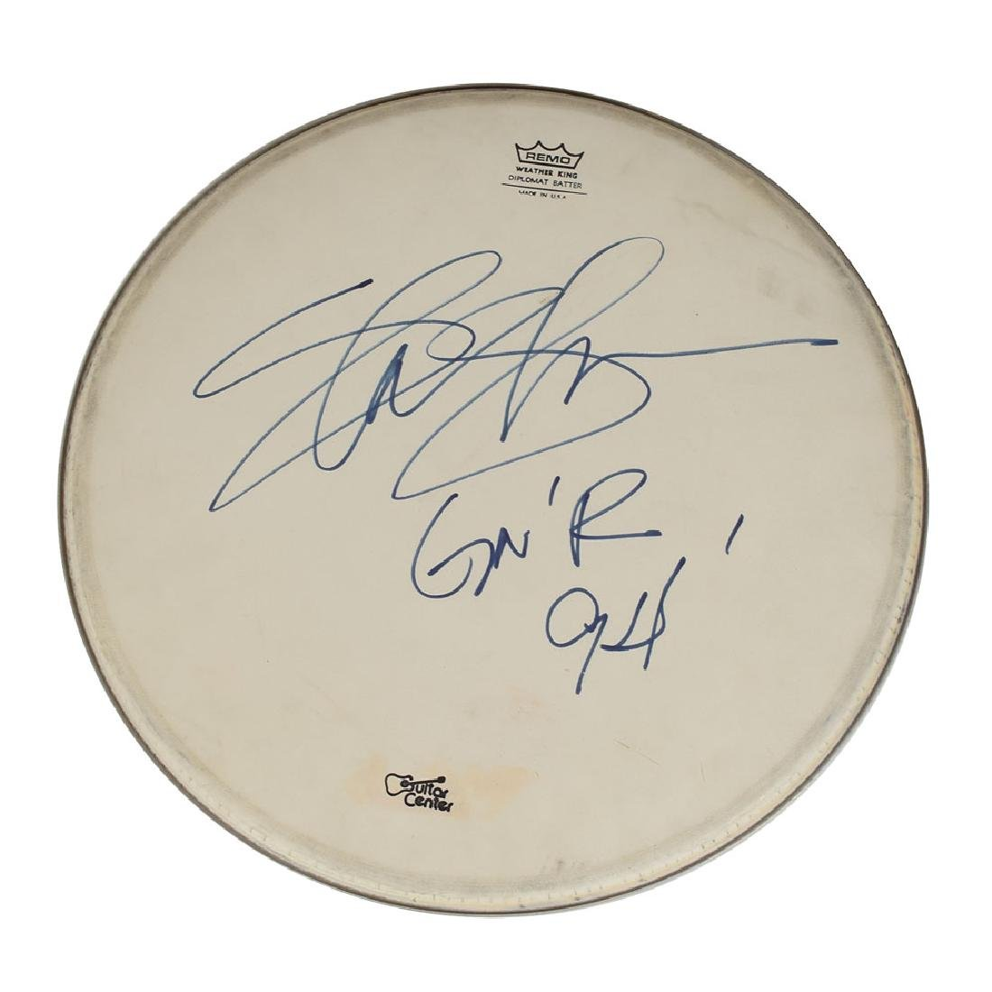 Guns N' Roses: Slash Signed Drum Head