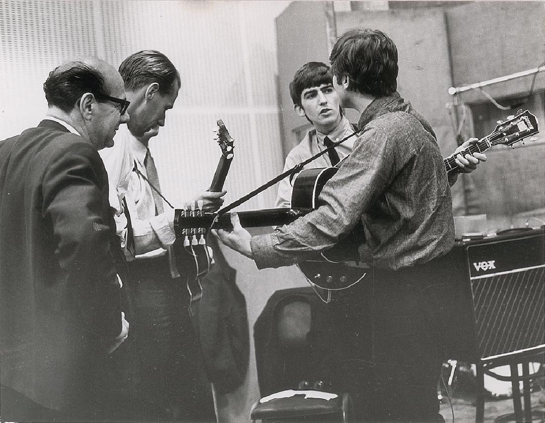 Beatles and George Martin Original Photograph