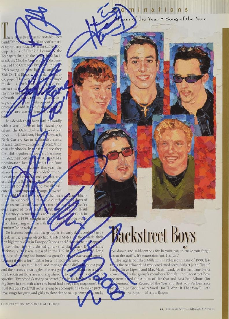 The Backstreet Boys Signed Program