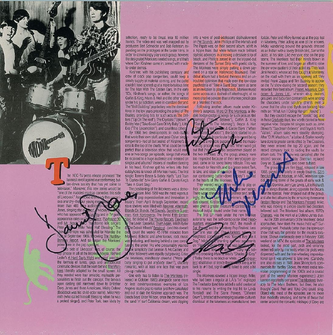 The Monkees Signed Album
