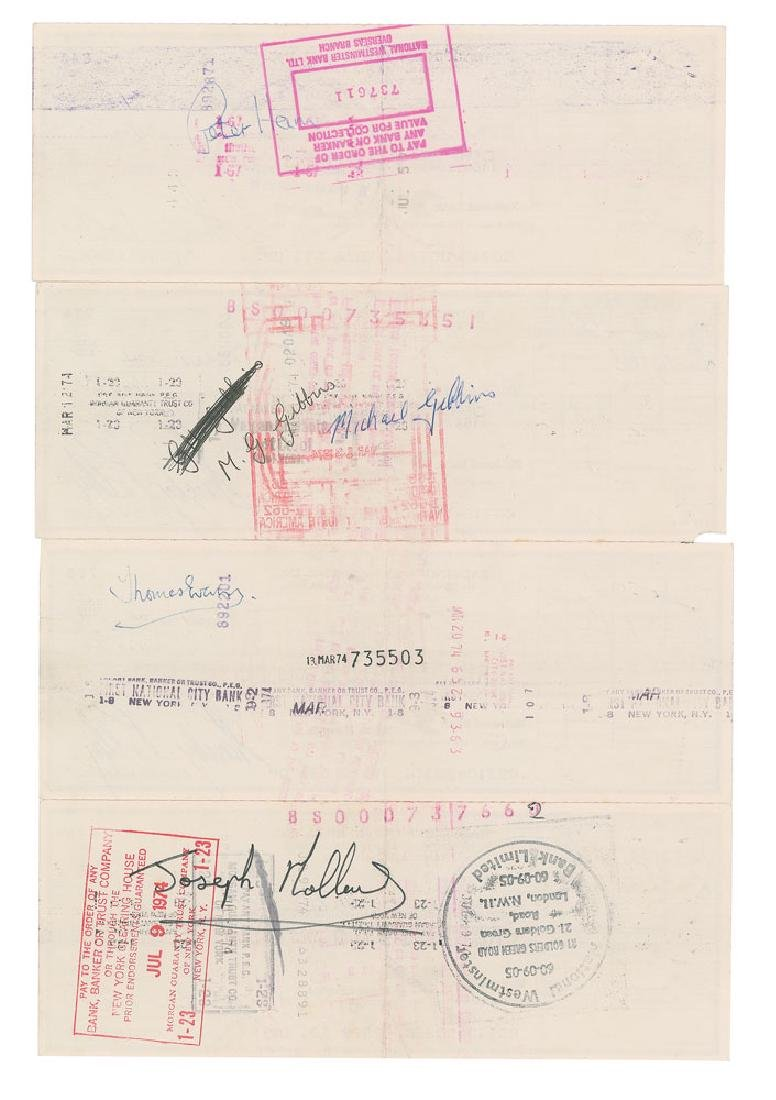 Badfinger Group of (4) Signed Checks