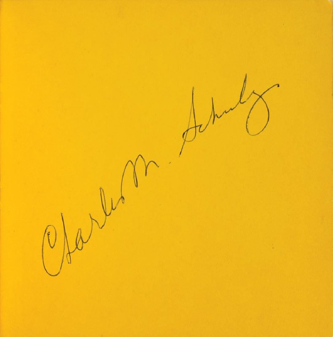 Charles Schulz Signed Book
