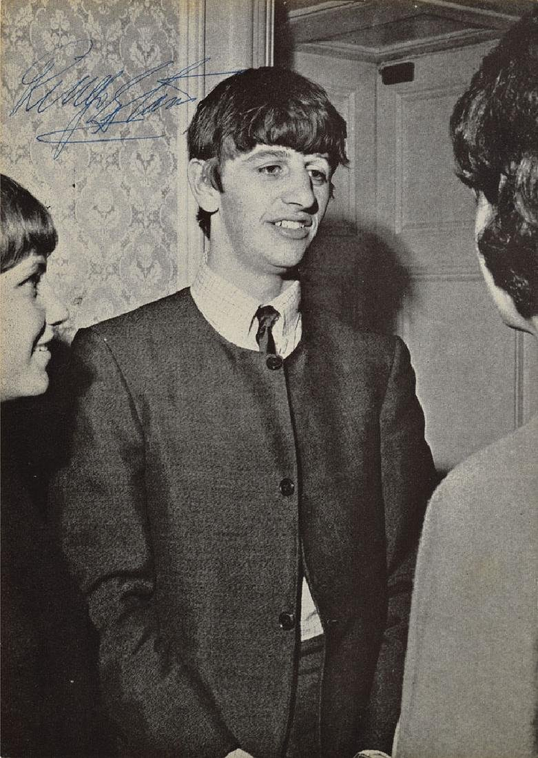 Ringo Starr Signed 1963 Beatles Monthly Book