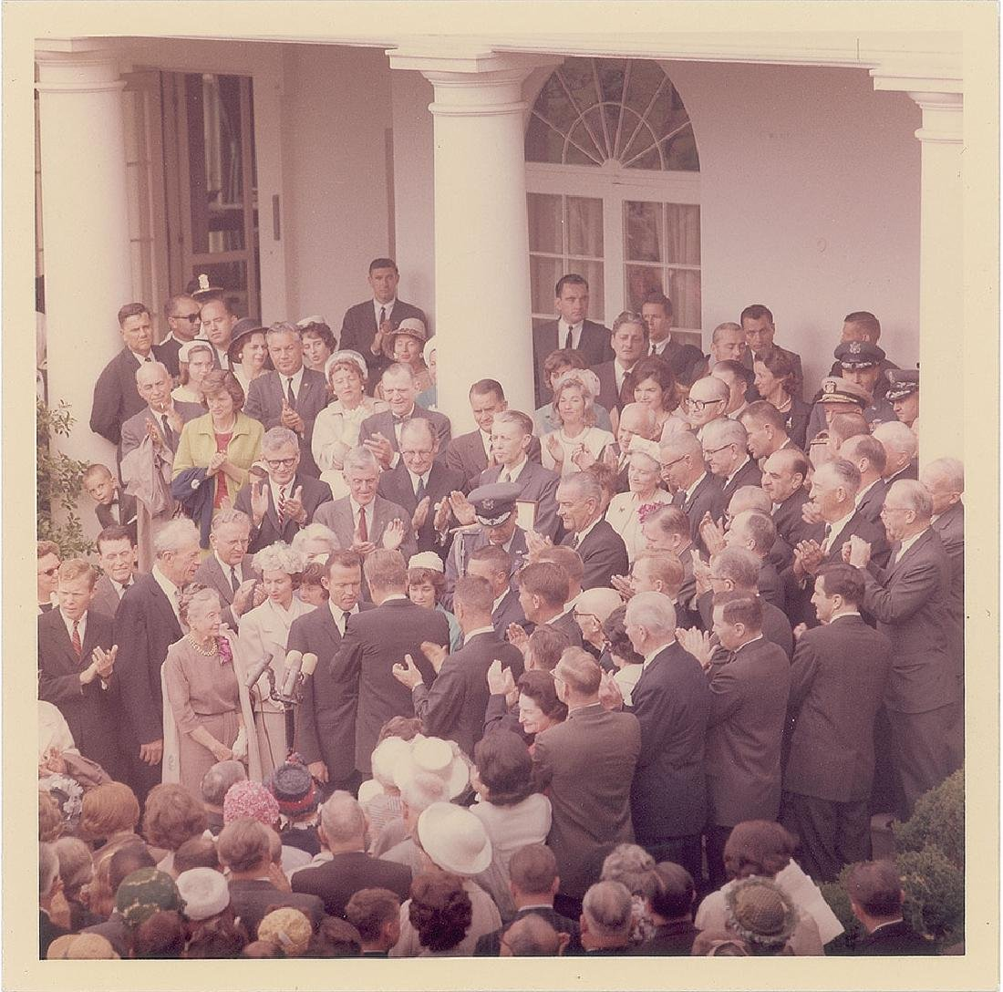 John F. Kennedy and Gordon Cooper Original Vintage Photograph by Cecil Stoughton