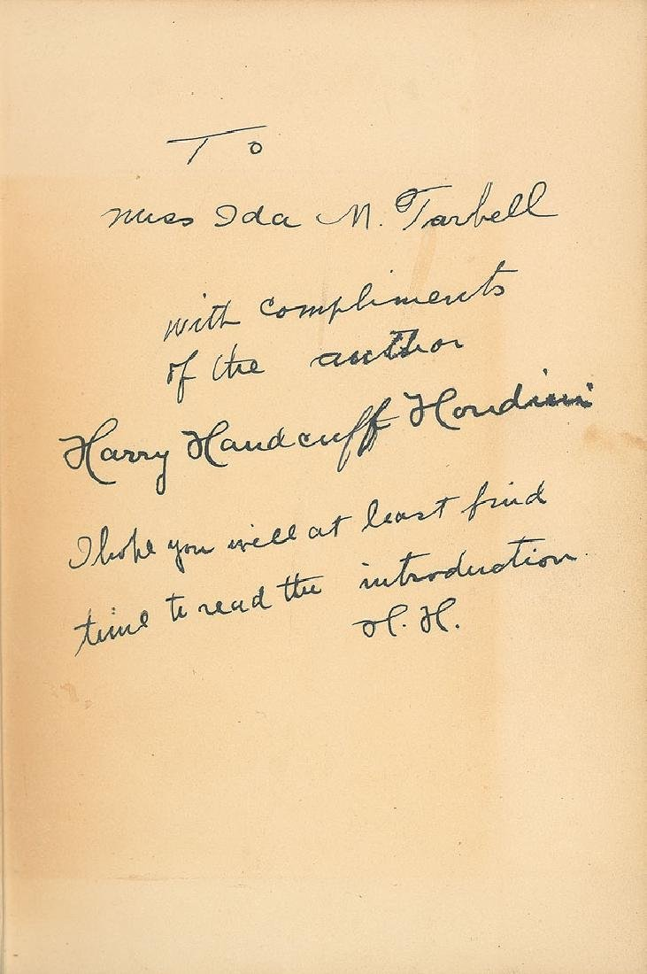 Harry Houdini Signed Book