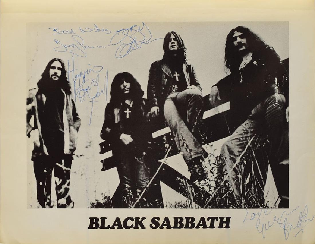 Black Sabbath Signed Program