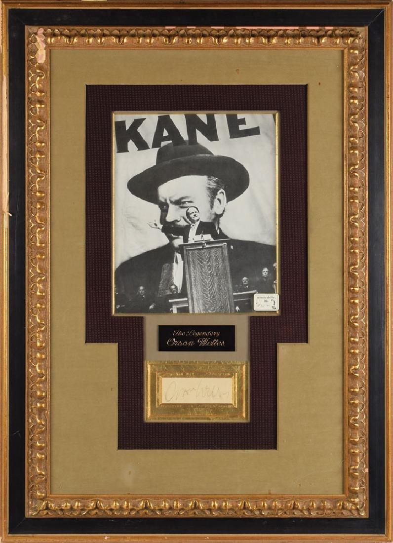 Orson Welles Signature and Citizen Kane Production Design