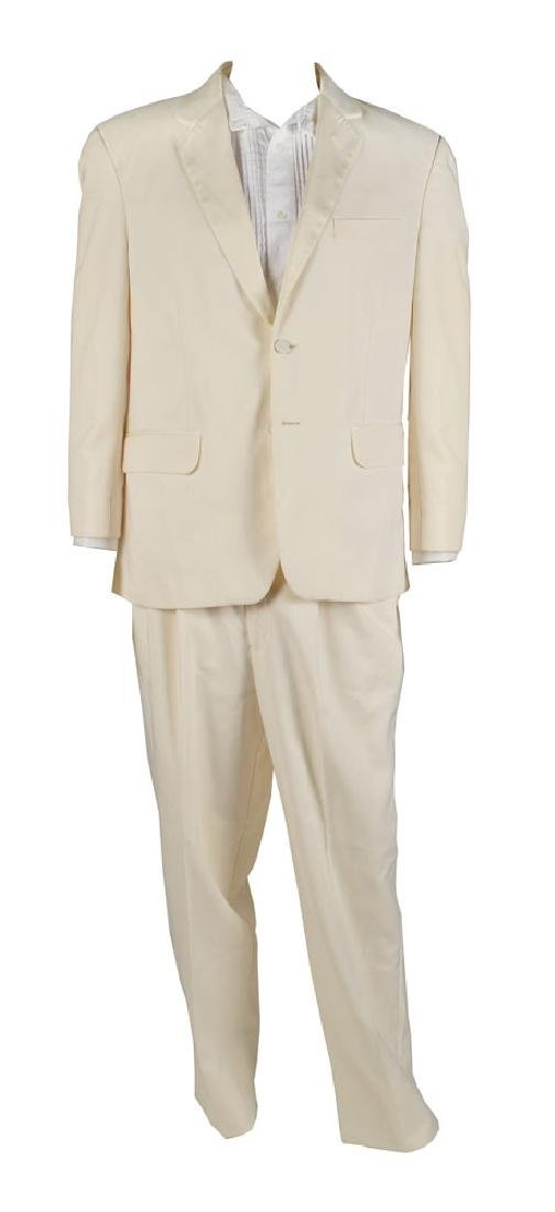 Zach Galifianakis Screen-Worn Shirt and Suit from Masterminds