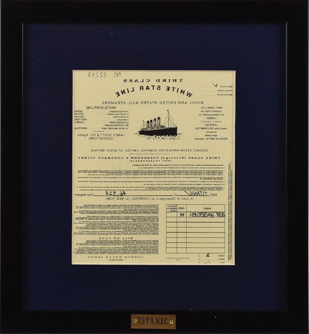 Titanic Ticket Prop